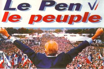 Cartel electoral de Jean Marie Le Pen