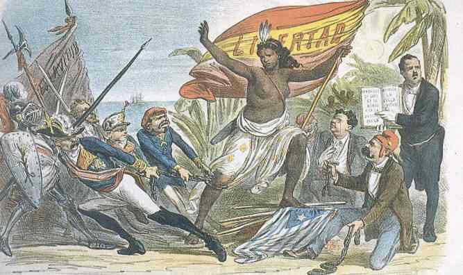 Independencia de Cuba, revista la flaca,1873_
